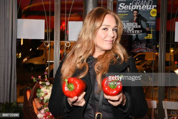 Actress Lola Dewaere attends 'Apero Mecs A Legumes' Party Hosted by Grand Seigneur Magazine at the Bistrot Marguerite on March 22, 2017 in Paris,...