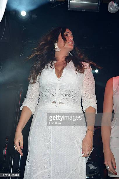 Actress Lola Dewaere performs during the Nicolas Ullmann White Birthday Party at Le Bus Palladium on May 2 2015 in Paris France