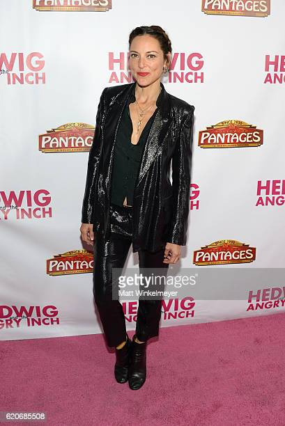 Actress Lola Glaudini attends the opening night of Hedwig And The Angry Inch at the Pantages Theatre on November 2 2016 in Hollywood California