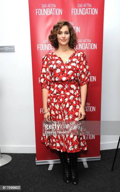 Actress Lola Kirke attends SAGAFTRA Foundation Conversations 'Mozart In The Jungle' at The Robin Williams Center on February 12 2018 in New York City