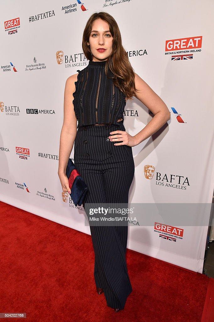 Actress Lola Kirke attends the BAFTA Los Angeles Awards Season Tea at Four Seasons Hotel Los Angeles at Beverly Hills on January 9, 2016 in Los Angeles, California.