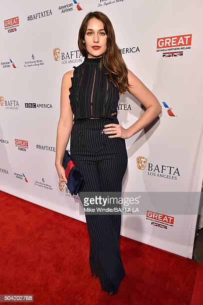 Actress Lola Kirke attends the BAFTA Los Angeles Awards Season Tea at Four Seasons Hotel Los Angeles at Beverly Hills on January 9 2016 in Los...