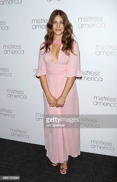 Actress Lola Kirke attends the 'Mistress America' New York premiere at Landmark Sunshine Cinema on August 12 2015 in New York City