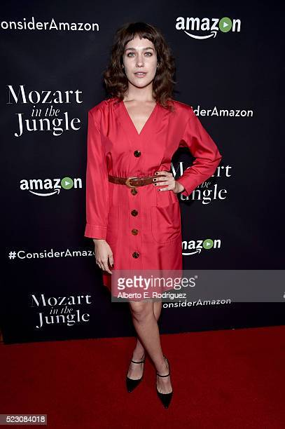Actress Lola Kirke attends the screening and QA for Amazon's 'Mozart In The Jungle' at Hollywood Roosevelt Hotel on April 21 2016 in Hollywood...