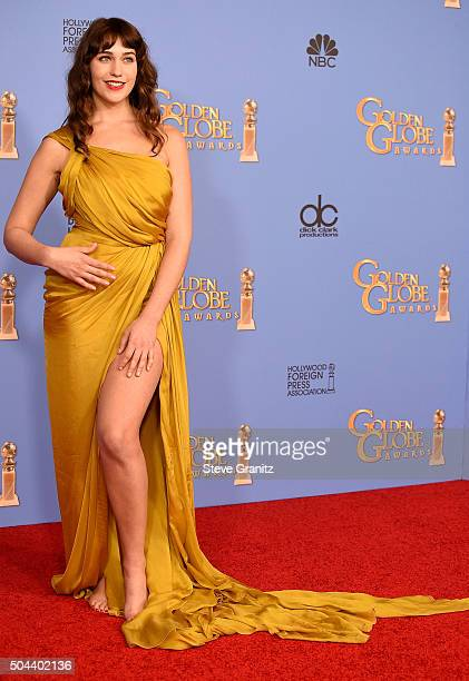 Actress Lola Kirke of 'Mozart in the Jungle' winner of the award for Best Television Series Musical or Comedy poses in the press room during the 73rd...