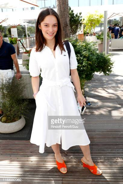 Actress Lola Le Lann attends the 2019 French Tennis Open Day Seven at Roland Garros on June 01 2019 in Paris France