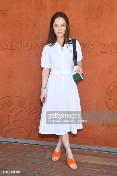 Actress Lola Le Lann attends the 2019 French Tennis Open - Day Seven at Roland Garros on June 01, 2019 in Paris, France.