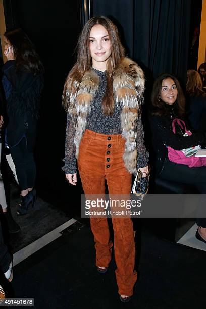 Actress Lola Le Lann attends the Sonia Rykiel show as part of the Paris Fashion Week Womenswear Spring/Summer 2016 on October 5, 2015 in Paris,...