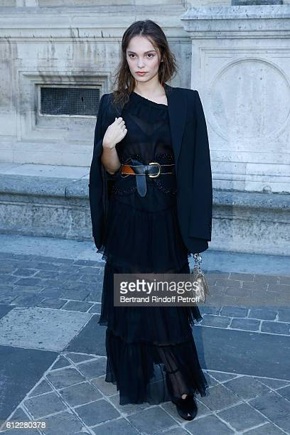 Actress Lola Le Lann attends the Sonia Rykiel show as part of the Paris Fashion Week Womenswear Spring/Summer 2017 on October 3, 2016 in Paris,...