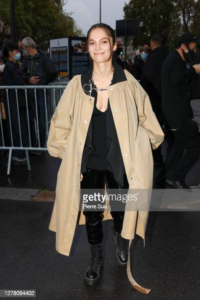 Actress Lola Le Lann attends the Yohji Yamamoto Womenswear Spring/Summer 2021 show as part of Paris Fashion Week on October 02, 2020 in Paris, France.