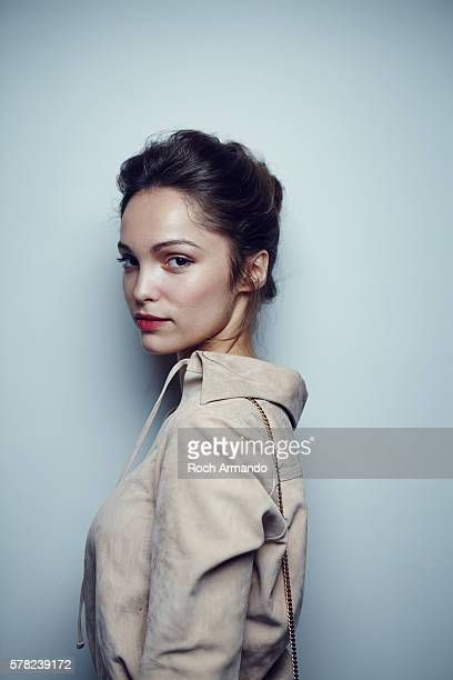 Actress Lola Le Lann is photographed for Self Assignment on June 21, 2015 in Cabourg, France.