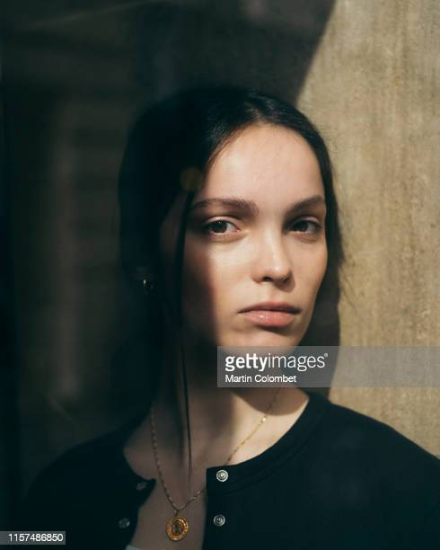 Actress Lola Le Lann poses for a portrait on March 20, 2019 in Paris, France.