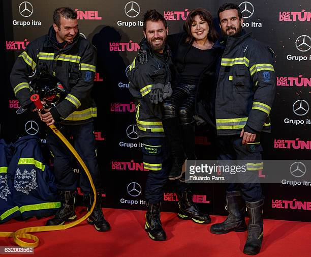 Actress Loles Leon attends 'Los del Tunel' premiere at Capitol cinema on January 18 2017 in Madrid Spain