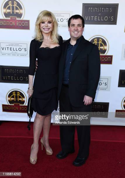Actress Loni Anderson and her son Quinton Anderson Reynolds arrive at the debut of the Southern California location of Michael Feinstein's new supper...