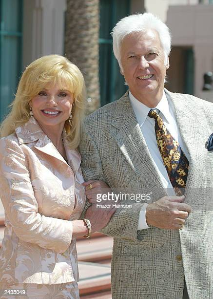 Actress Loni Anderson and singer Jack Jones attend the memorial tribute for actor and comedian Bob Hope at the Academy of Television Arts Sciences...