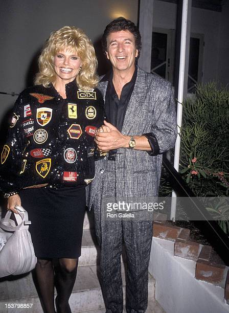 Actress Loni Anderson and TV personality Bert Convy on November 16 1986 dine at Spago in West Hollywood California