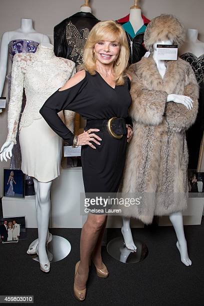 Actress Loni Anderson appears at the Icons Idols Hollywood press event at Julien's Auctions Gallery on December 1 2014 in Beverly Hills California