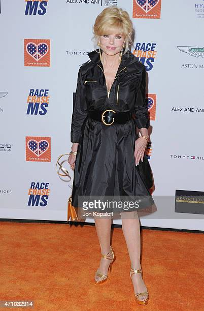 Actress Loni Anderson arrives at the 22nd Annual Race To Erase MS at the Hyatt Regency Century Plaza on April 24 2015 in Century City California