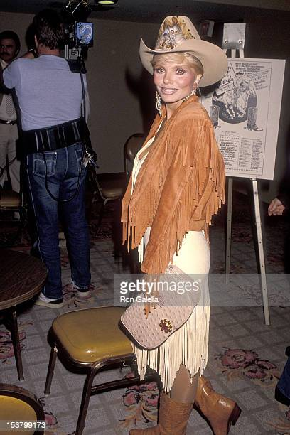 Actress Loni Anderson attends the Motion Picture Television Fund's Eighth Annual Golden Boot Awards on July 28 1990 at the Century Plaza Hotel in...