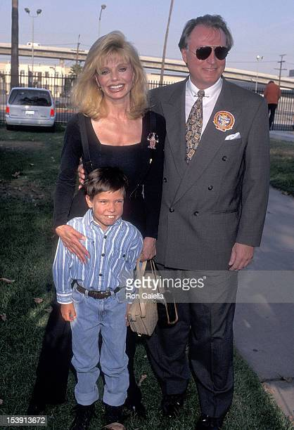 Actress Loni Anderson boyfriend Geoff Brown and her son Quinton Reynolds attend The Greatest Show on Earth Ringling Brothers and Barnum Bailey 126th...
