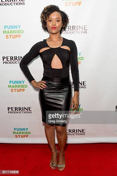 Actress Lony'e Perrine arrives for the Screening Of Perrine Productions' 'Funny Married Stuff' at the ACME Comedy Theatre on November 7 2016 in Los...