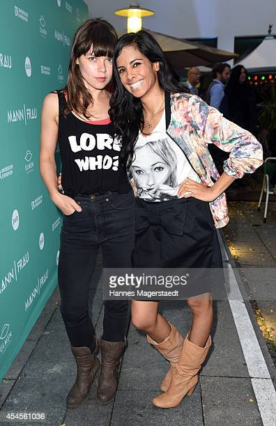 Actress Lore Richter and Collien UlmenFernandes attend the 'Mann/Frau' Web Series Kick Off Event at Volkskueche on September 3 2014 in Munich Germany