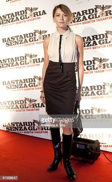 Actress Loredana Cannata attends Inglourious Basterds Premiere at the Warner Cinema on September 21 2009 in Rome Italy