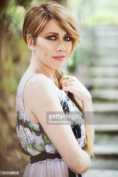 Actress Loredana Cannata is photographed for Self Assignment on May 08 2015 in Rome Italy