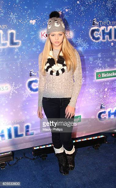 Actress Loren Gray arrives at The Queen Mary's CHILL Tree Lighting Ceremony at The Queen Mary on November 23 2016 in Long Beach California