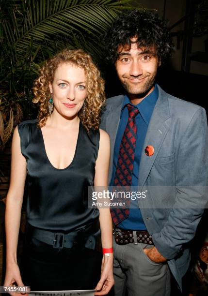 Actress Loren Horsley and director Taika Waititi attend the after party for the premiere of Eagle vs Shark at The Delancy June 11 2007 in New York...