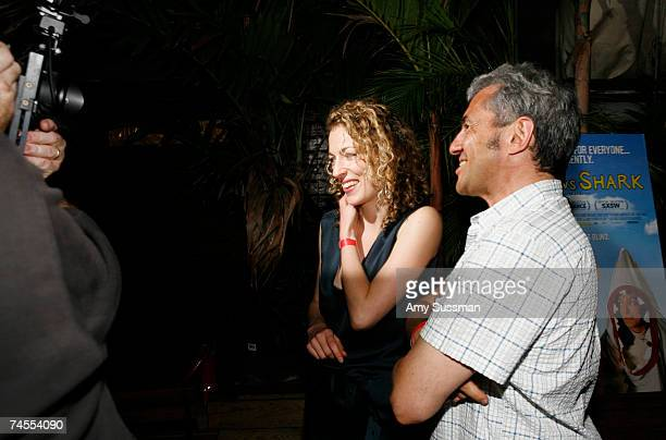 Actress Loren Horsley and president of Miramax Daniel Battsek attend the after party for the premiere of Eagle vs Shark at The Delancy June 11 2007...