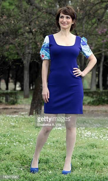 Actress Lorenza Indovina attends 'Benvenuti A Tavola' Mediaset TV serie photocall at Casa del Cinema on April 5 2012 in Rome Italy