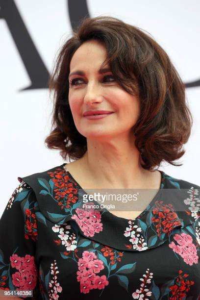 Actress Lorenza Indovina attends 'Il Miracolo' photocall at The Space Cinema Moderno on May 3 2018 in Rome Italy