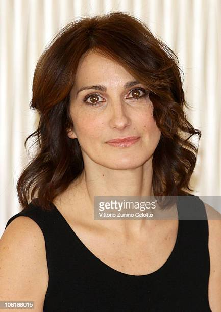 Actress Lorenza Indovina attends Qualunquemente photocall held at Terrazza Martini on January 20 2011 in Milan Italy