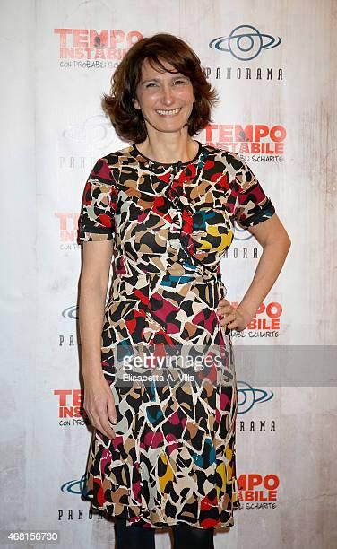 Actress Lorenza Indovina attends 'Tempo Instabile Con Probabili Schiarite' Screening at Cinema Barberini on March 30 2015 in Rome Italy