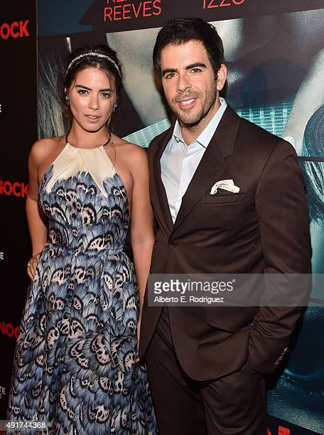Actress Lorenza Izzo and director Eli Roth attend the premiere of Lionsgate's Knock Knock at TCL Chinese 6 Theatres on October 7 2015 in Hollywood...