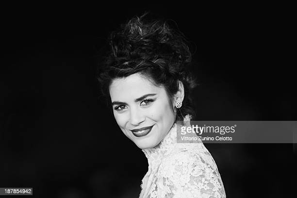 Actress Lorenza Izzo attends 'The Green Inferno' Premiere during The 8th Rome Film Festival at Auditorium Parco Della Musica on November 12 2013 in...
