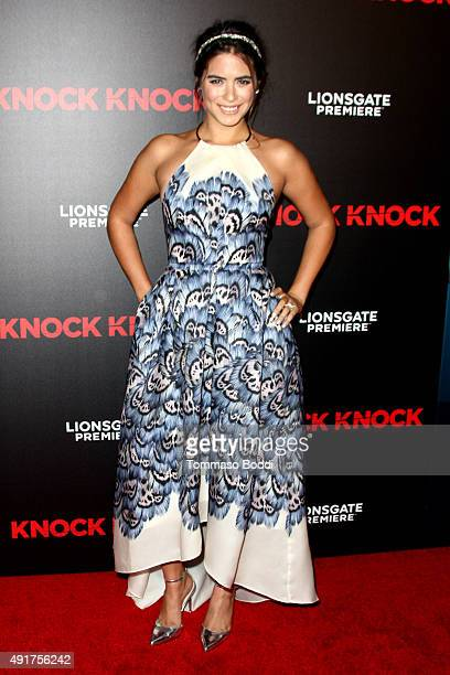Actress Lorenza Izzo attends the premiere of Lionsgate Premiere's Knock Knock held at the TCL Chinese Theatre on October 7 2015 in Hollywood...