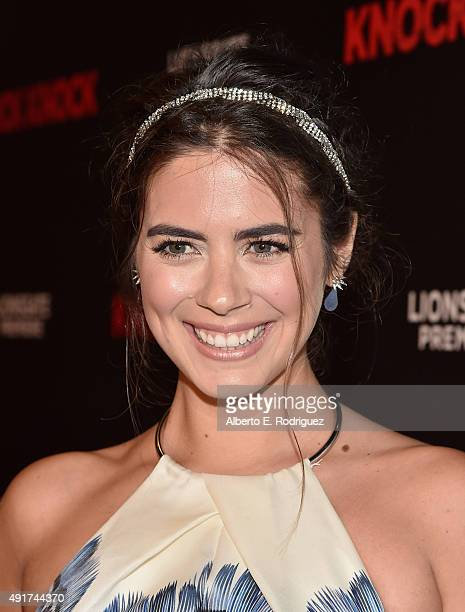 Actress Lorenza Izzo attends the premiere of Lionsgate's Knock Knock at TCL Chinese 6 Theatres on October 7 2015 in Hollywood California