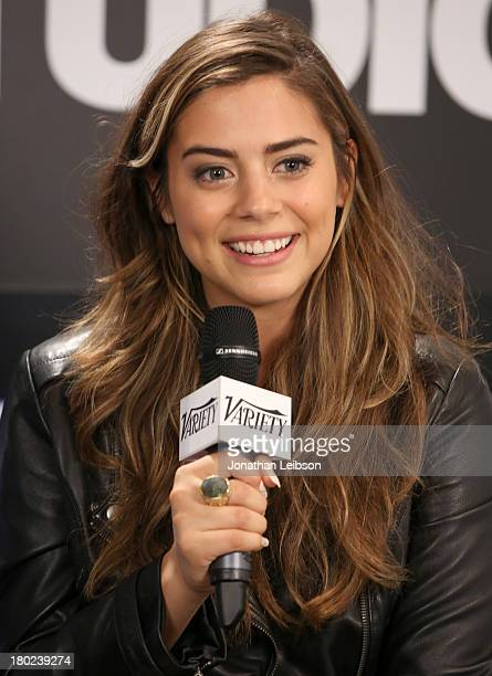 Actress Lorenza Izzo attends the Variety Studio presented by Moroccanoil at Holt Renfrew during the 2013 Toronto International Film Festivalon...