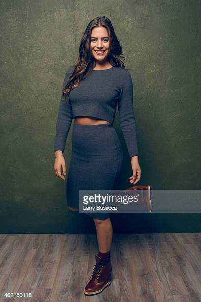 Actress Lorenza Izzo from Knock Knock poses for a portrait at the Village at the Lift Presented by McDonald's McCafe during the 2015 Sundance Film...