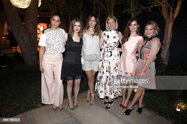 Actress Lorenza Izzo Gillian Jacobs singer Katharine McPhee fashion designer Lela Rose actresses Ahna O'Reilly and Brittany Snow attend the Lela Rose...