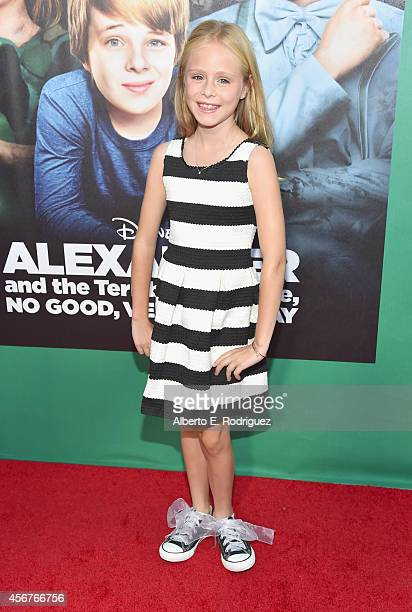 Actress Loreto Peralta attends The World Premiere of Disney's Alexander and the Terrible Horrible No Good Very Bad Day at the El Capitan Theatre on...