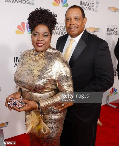 Actress Loretta Devine and husband attend the 44th NAACP Image Awards at The Shrine Auditorium on February 1, 2013 in Los Angeles, California.