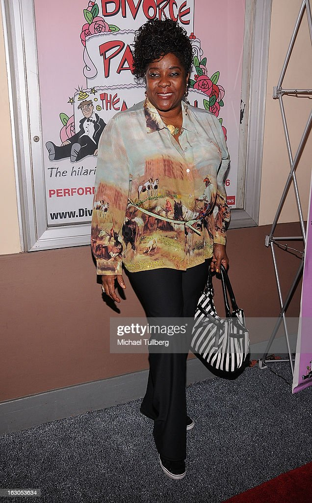 Actress Loretta Devine attends the opening night performance of 'Divorce Party - The Musical' at El Portal Theatre on March 3, 2013 in North Hollywood, California.