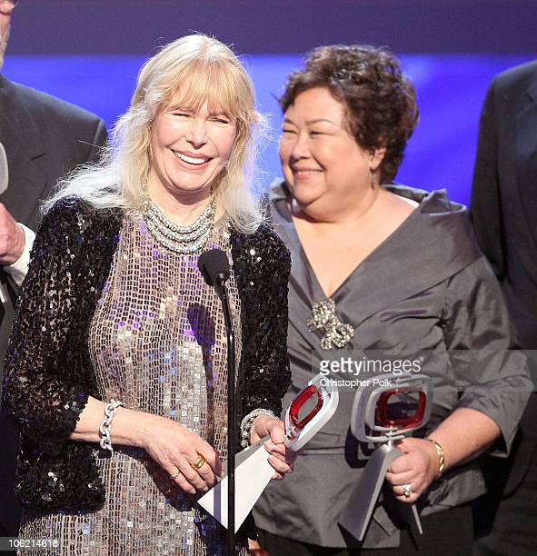 Actress Loretta Swit and Kellye Nakahara Wallet of MASH onstage during the 7th Annual TV Land Awards held at Gibson Amphitheatre on April 19 2009 in...