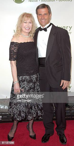 Actress Loretta Swit with President and cofounder of Farm Sanctuary Gene Baur at the 2008 Farm Sanctuary Gala for Farm Animals at Cipriani Wall...