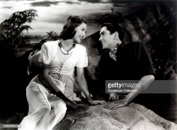 Actress Loretta Young and Tyrone Power Jr in a scene from the movie 'Second Honeymoon'