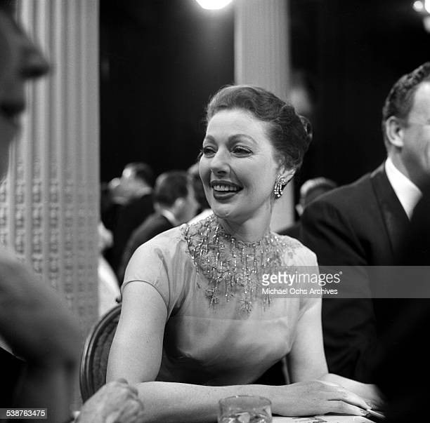 Actress Loretta Young attends the 9th Primetime Emmy Awards in Los Angeles,CA.