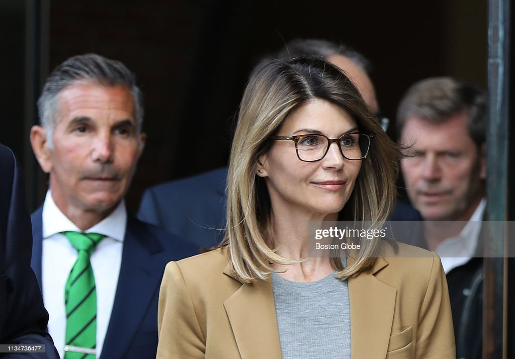 Felicity Huffman, Lori Loughlin Arrive At Boston Court For College Cheating Case : News Photo